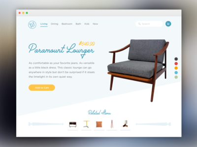Daily UI - Ecommerce Page