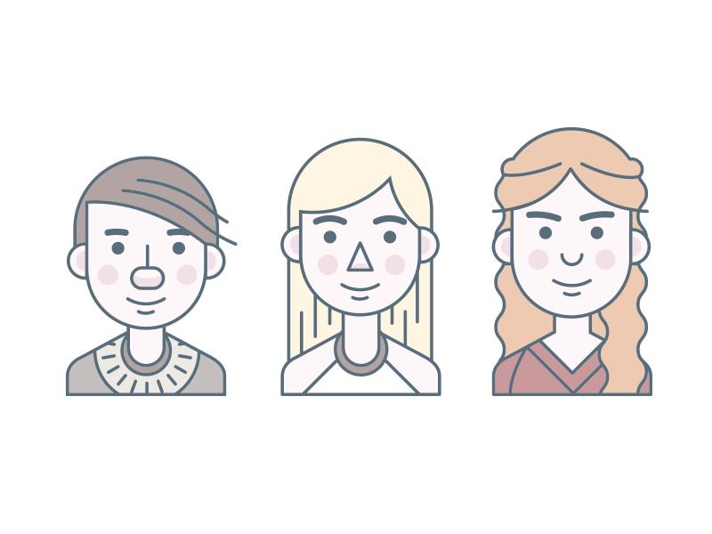 Women of Thrones portrait illustration tv show character game of thrones