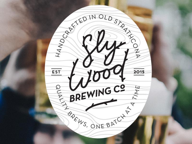 Slywood Beer Label Design branding packaging canada alberta edmonton brewing brewery wood wordmark logo label beer
