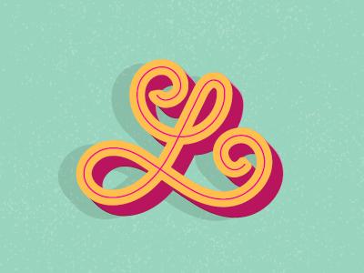 """L"" letters illustration typography lettering"