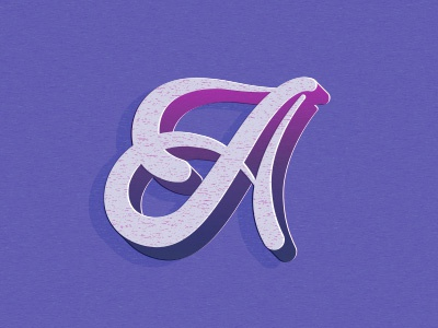 A letter a letters illustration typography lettering