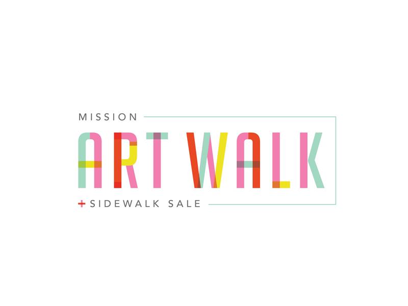 Art Walk Logo festival logo art logo art logo design