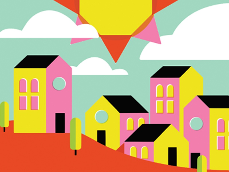 Art Walk Poster community illustration vector poster design