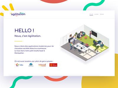 Agilitation Landing vector illustration page landing webdesign isometric agilitation