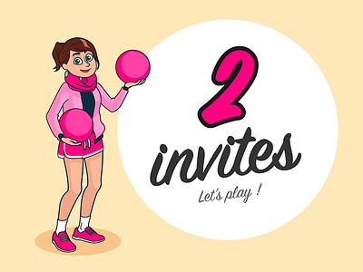 2 invites dribbble invitation player invites invite dribbble