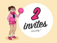 2 invites dribbble