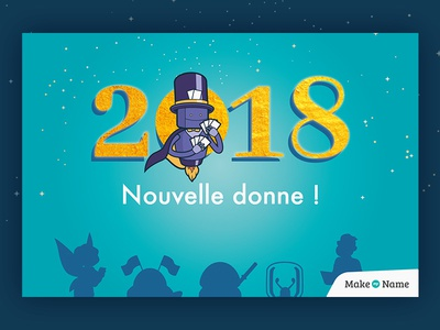 Happy new year 2018 - magician wishes magician robot 2018 happy new year new year bonne année card