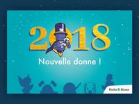 Happy new year 2018 - magician