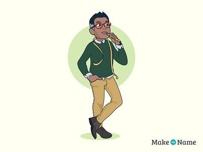 Makemyname Designer style character designer