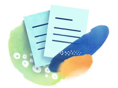 Contractual document - Axeptio contractual document watercolor gdpr