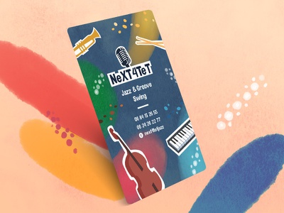 Jazz group card music group jazz businesscard