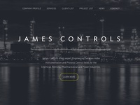 Homepage Design - James Controls