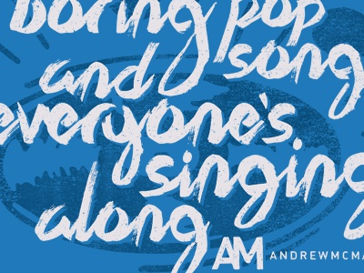 Andrew McMahon - Boring Pop Song andrew mcmahon apparel band typography merch
