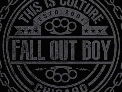Fall Out Boy - This Is Culture apparel merch fall out boy band chains brass knuckles crest