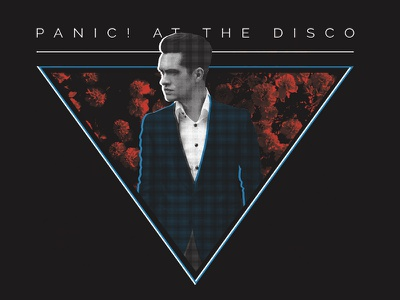 Panic! at the Disco - Floral floral panic at the disco merch band apparel