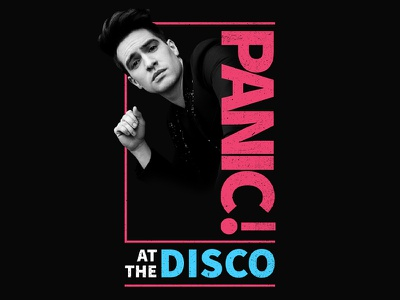 Panic! at the Disco - Wonder typography panic at the disco merch band apparel