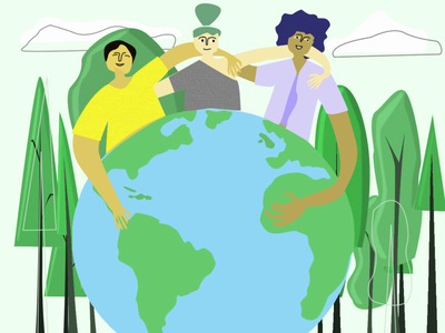 Earth Day illustrator animation minimal vector logo typography flat icon illustration design