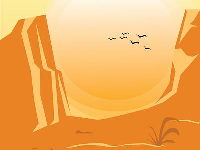 desert art minimal illustrator icon illustration design flat