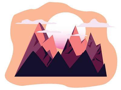 Mountains graphic design art vector minimal illustrator illustration icon flat design