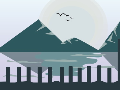 Seaside graphic design art minimal vector illustrator illustration flat icon design