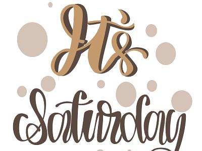 Saturday vector art graphic design typography minimal design flat illustration illustrator
