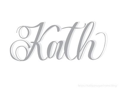 Kath minimal illustrator design lettering creative typography calligraphy