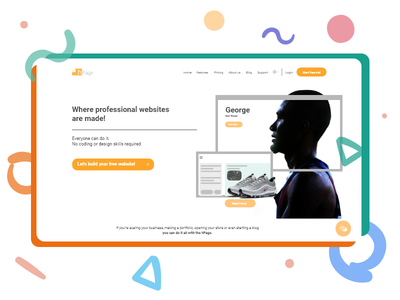 Landing page illustration dribbble website branding app web uiux ux design ui