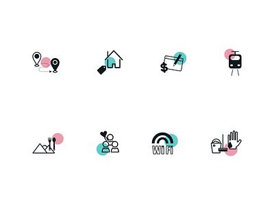 Moovaz Singapore Icons icon vector illustration app design branding website uidesign ui drawing iconography iconset icons graphicdesign design