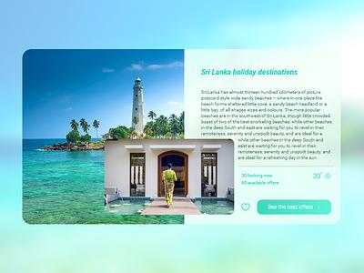 Sri Lanka travel special offers destination picker travel srilanka typography graphic design front-end dribbble beautiful apps application app design branding website uiux app web ux ui design