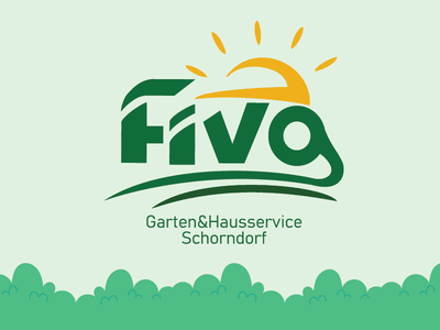 Fiva Gardening service logos logo-designer logotype logodesign visual language visual design visual green garden branding logo-design logo