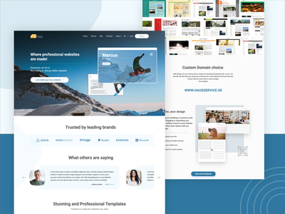 hPage Landing Page frontend development frontend design development cms development uiux ui ux user experience userinterface user interface layout hpage landing page design landing design landing page