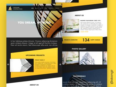 UI design for a construction company construction ui design web design website