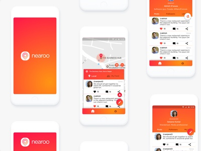 Hyperlocal Social Network App ui ux ui design hyperlocal social network