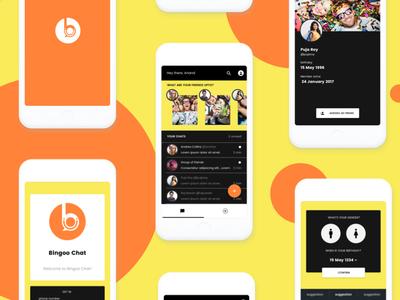 Bingoo Chat App ux ui design social app chat