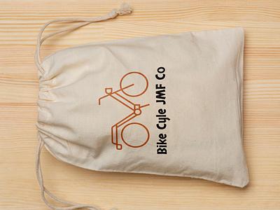 Bike Cycle JMF Co logovue illustrator design typography minimal logo icon branding