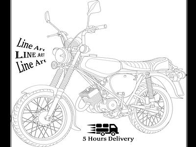 Simson Line Art cartoon illustration illustraion vector tracing line drawing vectorart vector redraw logo to vector line art logo line art illustration