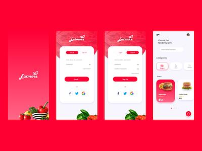 Food App app design