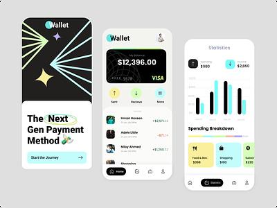 Wallet App branding animation logo motion graphics graphic design 3d app wallet