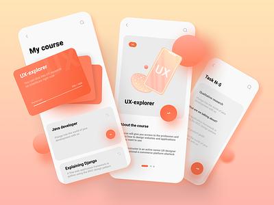 Learning App behance design dribbble ux design branding logo motion graphics graphic design 3d animation