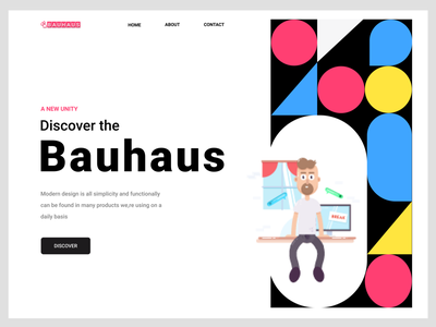 Bauhas App branding logo motion graphics graphic design 3d animation ui