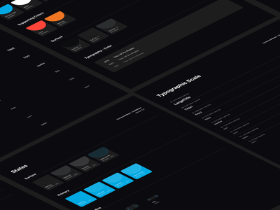 Dark Theme Style Guide mobile dark mode design system style guide dark theme