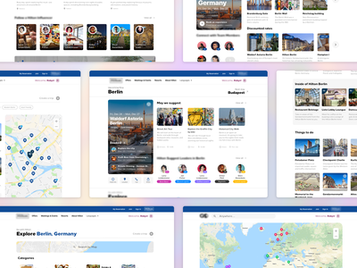 Explore your Travel trips influencer social map europe travel visual design design webdesign ux ui