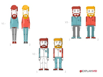 Character test :) video explainer character animation illiustration