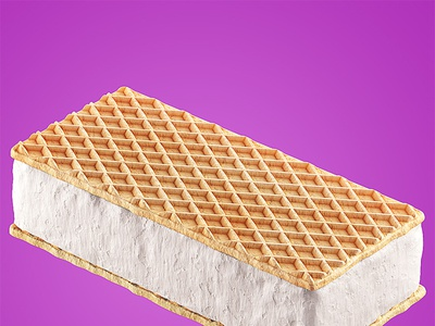 Ice Cream - WAFERS - 3D Made with Modo illustration icecream design 3d modeling