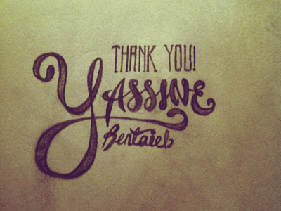 Thanks Yassine typography drawn thanks typography jack johnson