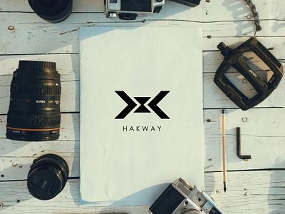 HAKWAY logo for a studio flat app design logo