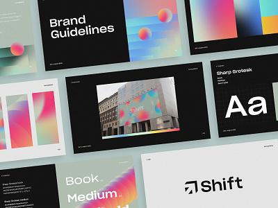 Shift Capital Brand Guidelines brand design branding gradient guidelines guidebook brand identity