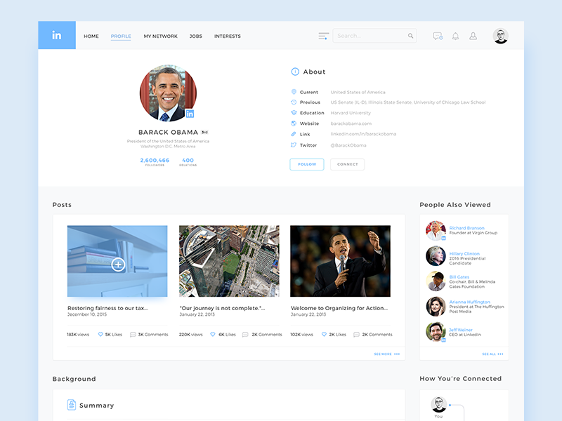 Linkedin Redesign interface connected people connection linkedin social redesign