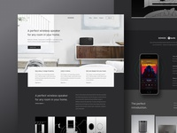 Sonos - Redesign homepage