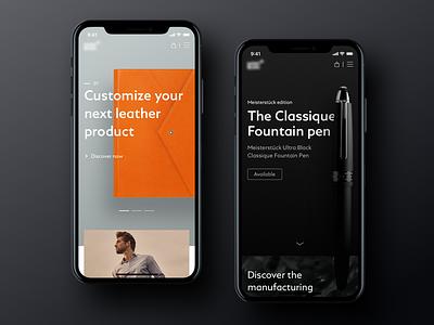 Luxury Shop - Mobile Homepage product design homepage landing mobile app product luxury shop ui ecommerce eshop